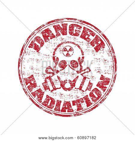 Radiation grunge rubber stamp