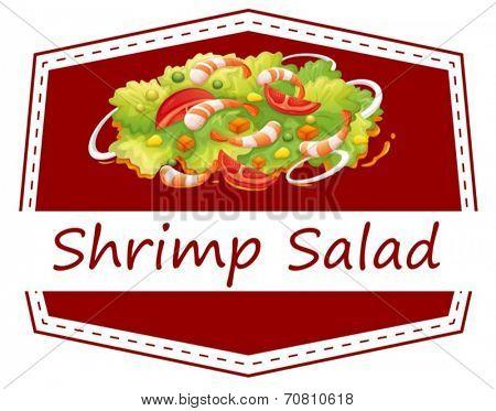 Illustration of a healthy shrimp salad