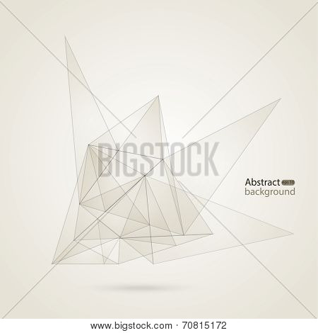 Abstract Mesh Background with lines and shapes. Sketch design. vector poster
