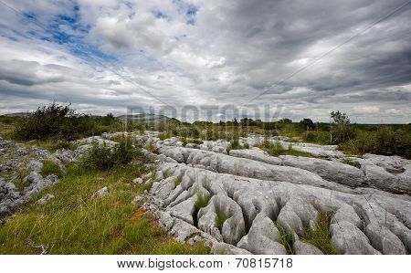 Rocky landscape of The Burren in County Clare, Ireland