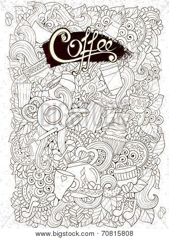Coffee Sketch Notebook Doodles.