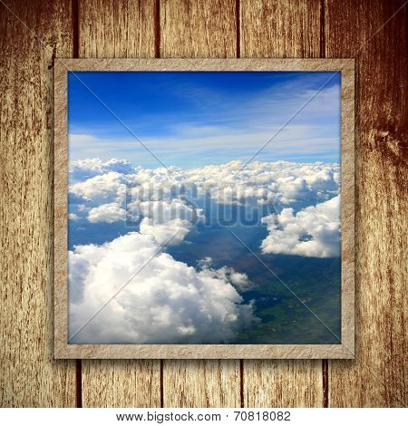 Bule Sky and Wooden Frame