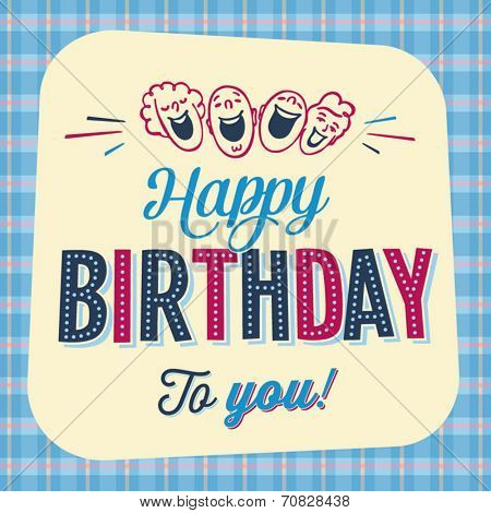 Vintage Birthday Card - Happy Birthday to you - Vector EPS10