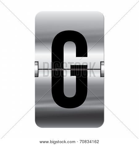 Silver Flipboard Letter - Departure Board - G
