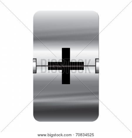 Silver Flipboard Letter - Departure Board - Plus
