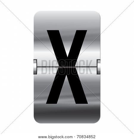 Silver Flipboard Letter - Departure Board - X