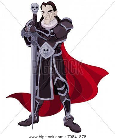 Illustration of very fearsome Dark Knight