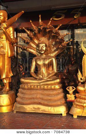 Buddha Brass Serpent Shelter