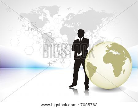 silhouette of businessman