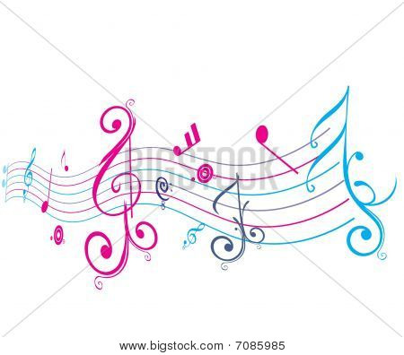 Music notes for design use of your project, vector illustration poster