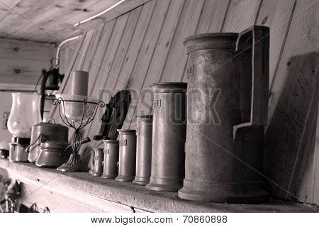 Old beer mugs