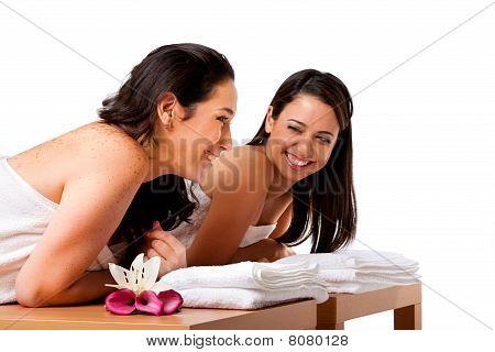Women Having Fun At Spa