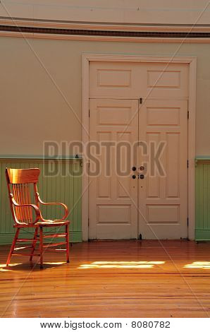 Old Chair by a door