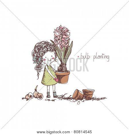 spring gardening, bulb planting