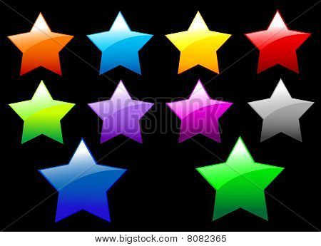 Simple Shiny Stars Buttons