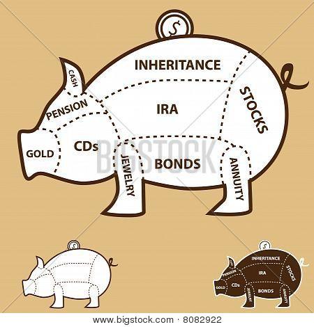 Sparschwein Diagramm