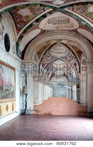 Frescoes In Casino Montaldo Villa Lante Italy