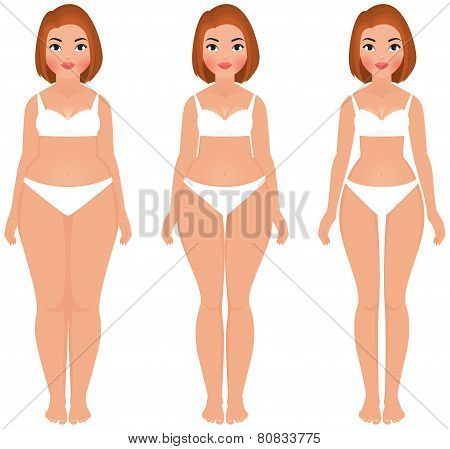 Fat To Slim Woman Weight Loss Transformation Front
