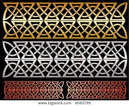 Metallic knotwork decorations