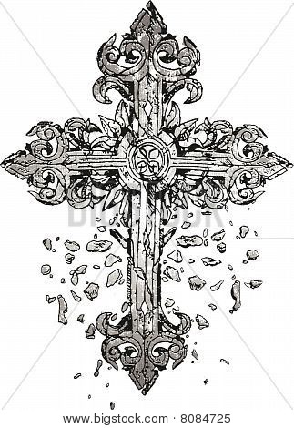 medieval antique cross