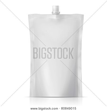Blank spouted pouch.