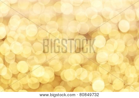 Yellow defocused lights background with copy space