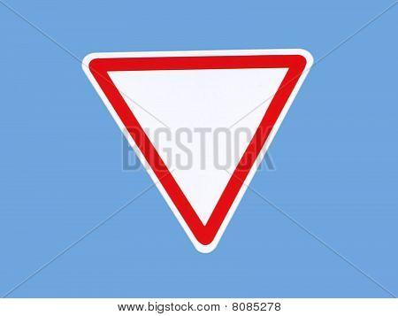 Give way sign.