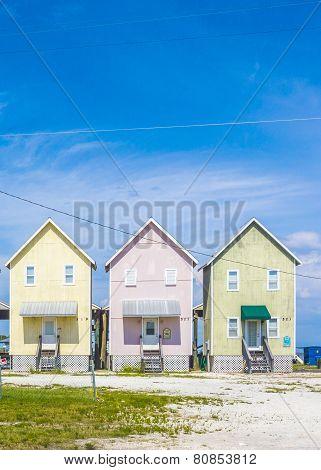 Beautiful Tourist Huts At The Beach