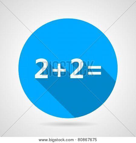 Flat vector icon for mathematics