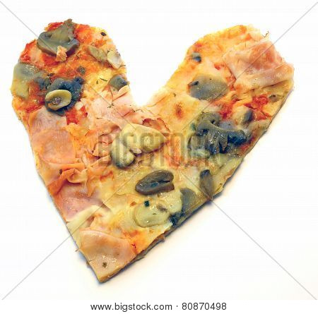 Heart-shaped Pizza For Lovers