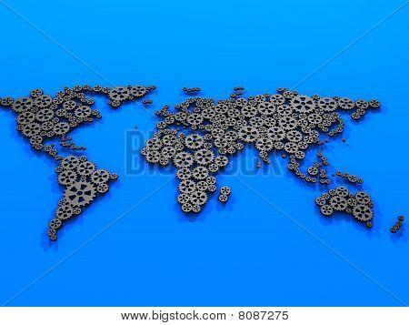 Gears world map.