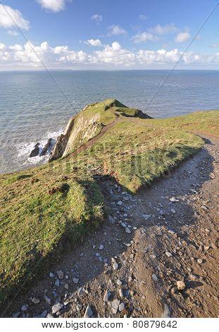 Baggy Point At Croyde On Southwest Coast Path, North Devon