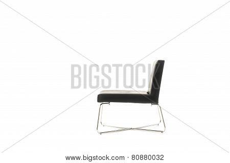 Profile Of An Elegant Modern Black Chair