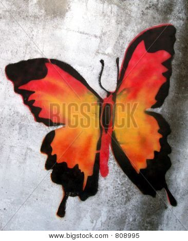 stencil grafitti butterfly
