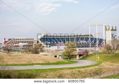 Football And Baseball  Sports Stadium