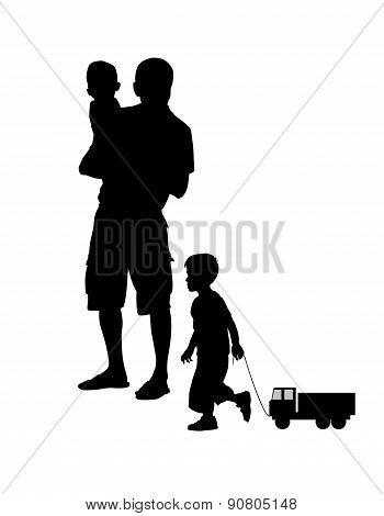 Father With Children