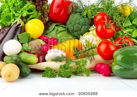 Group Of Different Vegetables