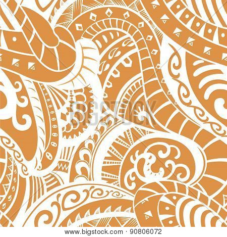 Seamless Pattern In Polynesian Style