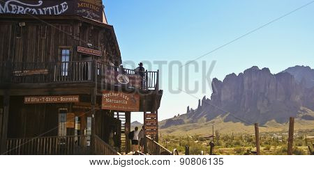 A Superstition Mountain View From Goldfield Ghost Town