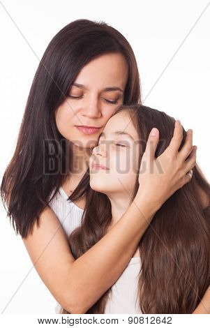 Portrait Of Beautiful Mother And Daughter