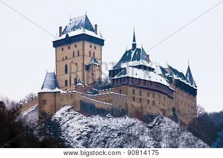 Castle Karlstejn in Czech Republic, winter