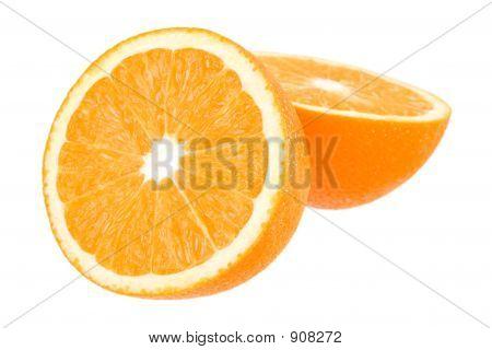 Orange On White With Path
