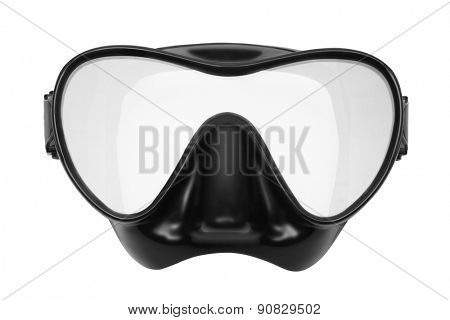 Mask for snorkeling and diving. Isolated on white background.