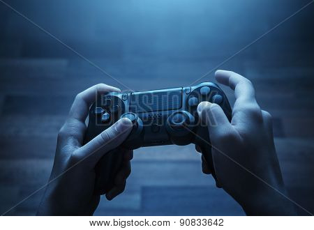 Playing video game