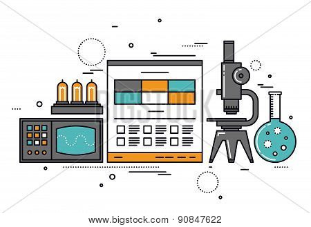 Electrical Science Research Line Style Illustration
