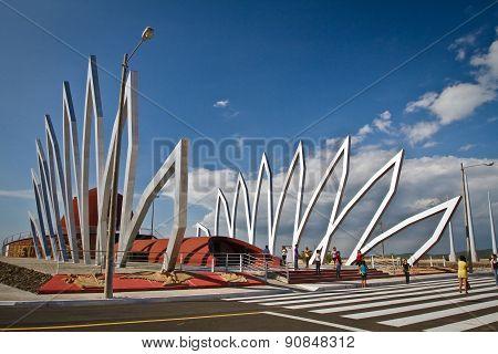 Alfaro city, home to the National Constituent Assembly in Montecristi, Ecuador