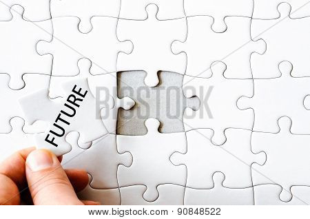Missing Jigsaw Puzzle Piece With Word Future
