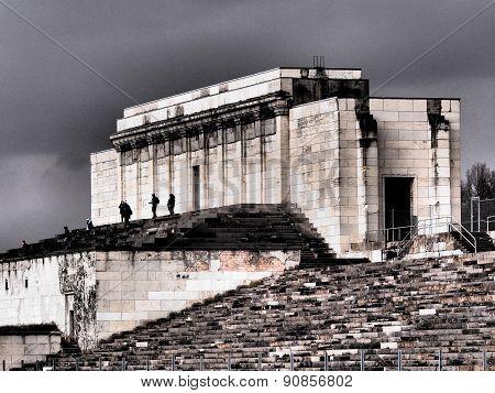 Dramatic view of the defunct main Nazi tribune