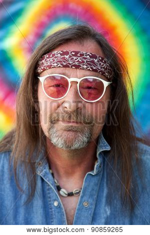 Middle-aged Nonconformist Man Wearing Sunglasses