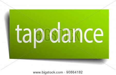 Tap Dance Square Paper Sign Isolated On White